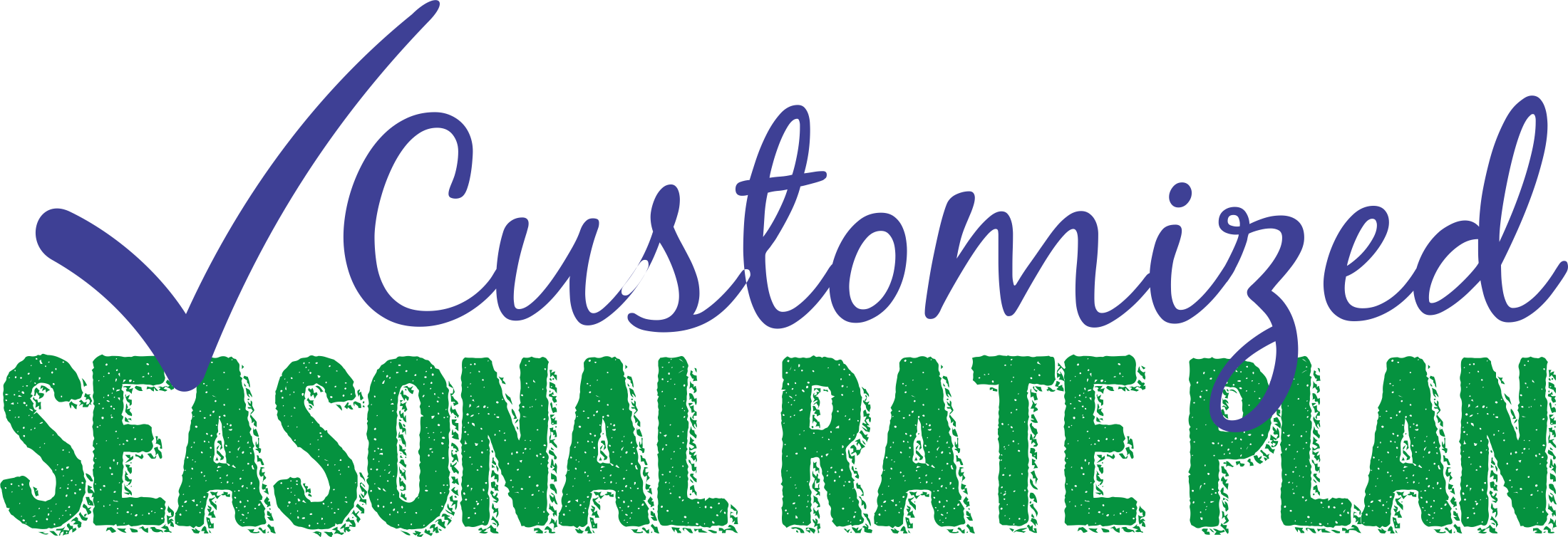 customized seasonal rate plan with check mark